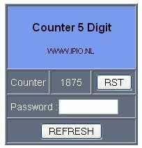 Industrial Counter Display 7 Segment Netwerk browser example